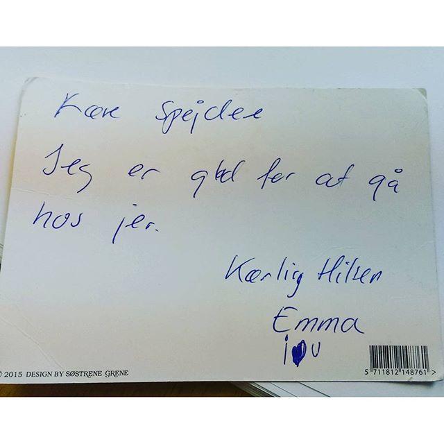 """<a target=""""_blank"""" href=""""https://instagram.com/jeanettelouise93/""""><b>jeanettelouise93</b></a> Postkort i dag fra Emma på 5 år   #postkort #FDF #fdfoplevelser #ståsted #sødebørn #glæde #FDFF4"""